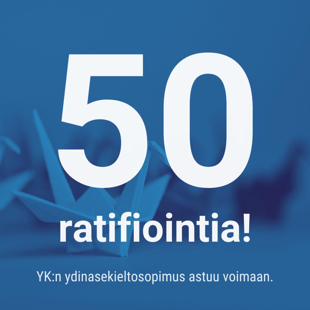 ydinasekielto-50-ratifiointia-YK:n ydinasekieltosopimus astuu voimaan