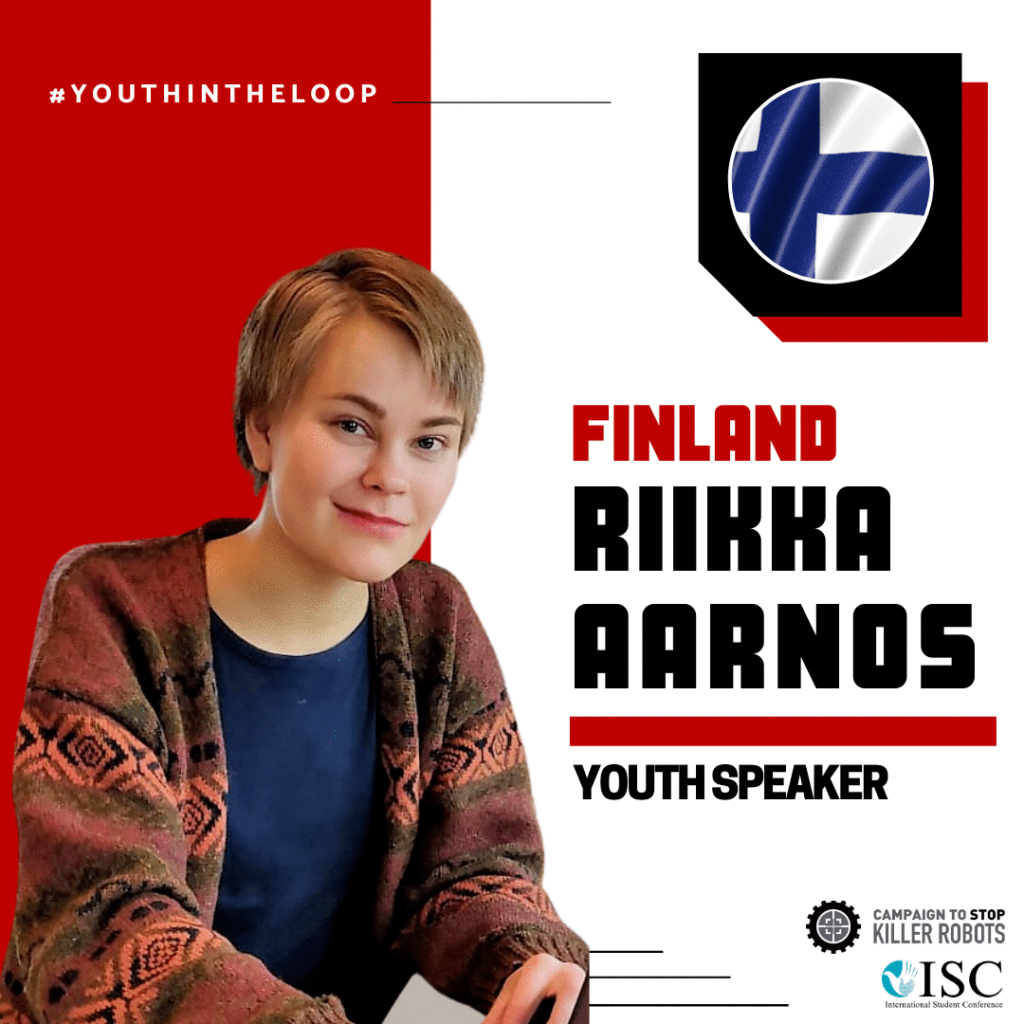 Riikka Aarnos Youth Speaker from Finland